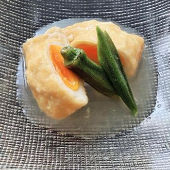 ミツカンのカンタン酢を使って冷やしてサッパリ「卵の揚げ袋」