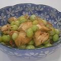 銀杏と鶏肉の炒め物