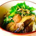レンチンで作るナスの蒲焼とほうれん草の梅おかか丼♡ by Lau Ainaさん