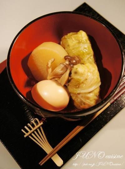 ☆鶏胸肉のやわらか~い和風ロールキャベツ☆