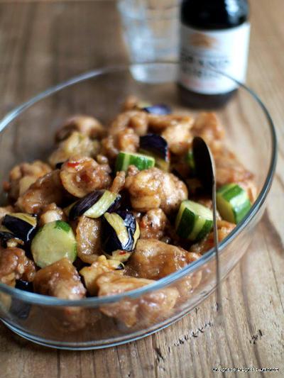 鶏と野菜のスイートチリ南蛮。
