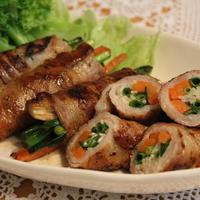 ナムルの素で 「たっぷり☆ナムル野菜の豚バラ巻き」