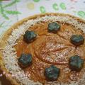 カボチャココナッツクリームの玄米粉タルト