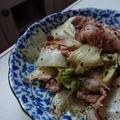 白菜と豚こま切れ肉の粒こしょう炒め