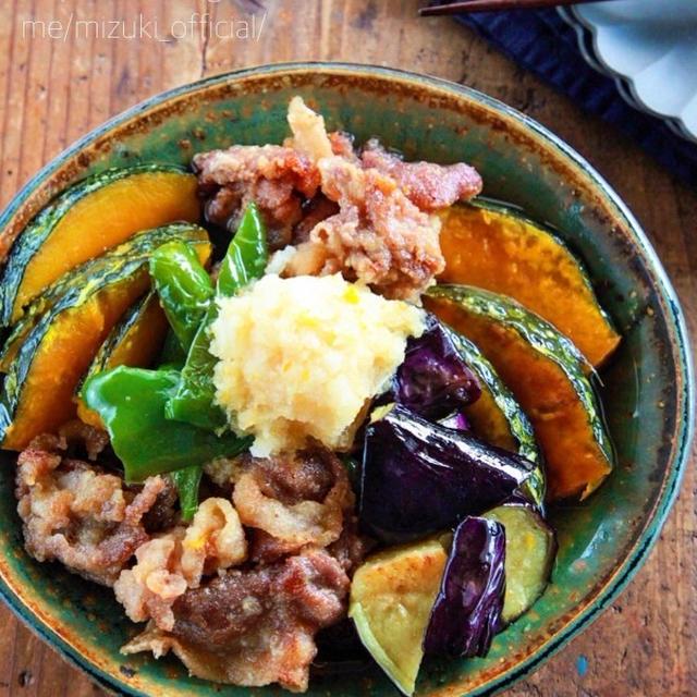 ♡豚肉と夏野菜の焼きびたし♡【#なす#ピーマン#かぼちゃ#簡単レシピ#時短#節約】