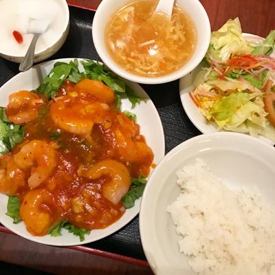 栄華楼 グランドセントラルタワー店/たっぷりエビチリ定食をランチで!