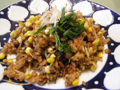wトウモロコシの味噌ご飯