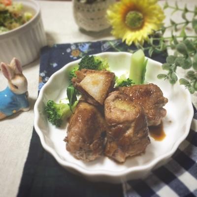 おつまみやメインにも☆長芋と豚肉のバルサミコ酢ソテー