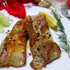 塩漬け豚肉のステーキ
