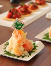 スモークサーモンのポテトサラダ 柚子風味