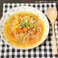 鉄分と食物繊維がたっぷり♪プチトマトとレンズ豆のスープ