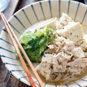 豚バラレタスの塩だれ肉豆腐【#簡単 #スピード #包丁不要 #主菜】
