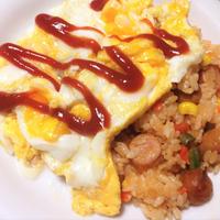 <とろ~りたまごのオムライス>の朝ご飯