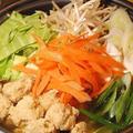家にある材料で作れる♪351円*チャンポン風とり団子鍋