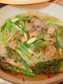 牡蠣とアスパラのハーブアヒージョ