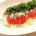 ごま油香る春の味♡新たまねぎとトマトのしらすサラダ