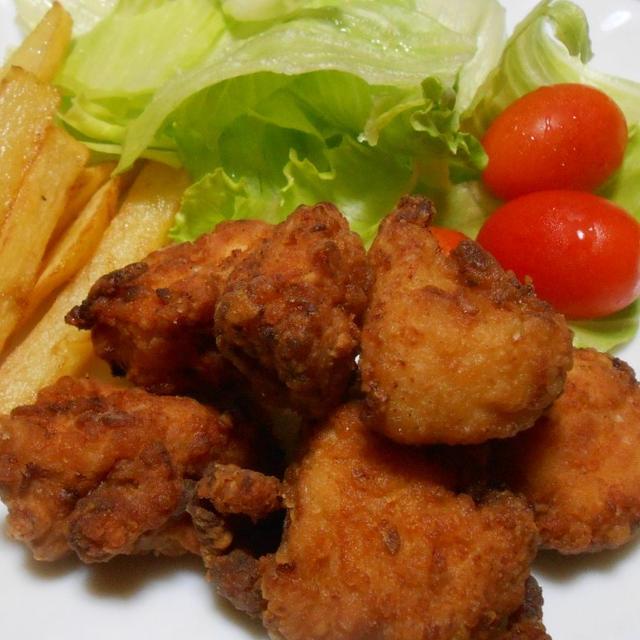 焼肉のタレで やわらか鶏胸肉のから揚げ