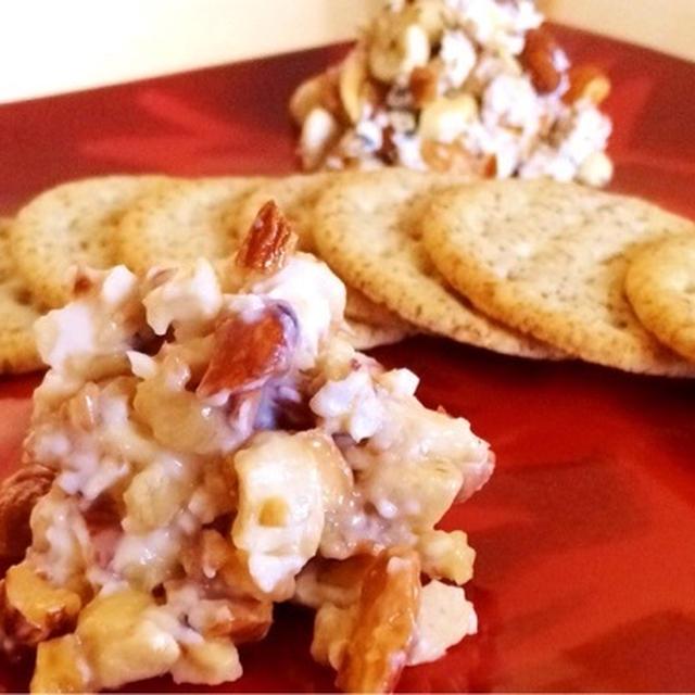 あらびきナッツとメープルクリームチーズ