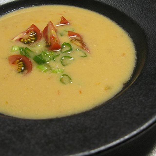 トマトと豆腐のひんやりスープ(レシピ)