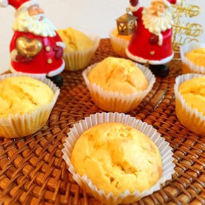 バター不使用♡ふわふわお芋マフィン*スシローパンケーキ