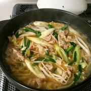 お肉と野菜の簡単鍋♪ニンニク味噌味♪ by bvividさん