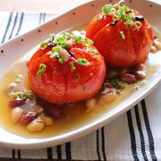 焼きトマトの出汁生姜とろみあんかけ