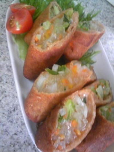 パン耳 春巻き & 高野豆腐と白菜ミルフィーユ