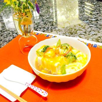 野菜たっぷりチーズ豆腐