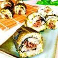 広島菜漬物 de 牛しぐれ煮の巻き寿司♡