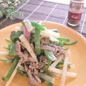 ピーマンと牛肉のさっぱり炒め ガラムマサラ風味