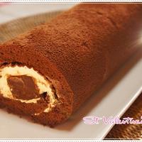 やや失敗の生チョコロールケーキ
