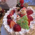 苺のショートケーキでクリスマス♪