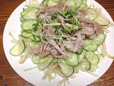 ぷるるん豚肉。豆あじのにぎり寿司