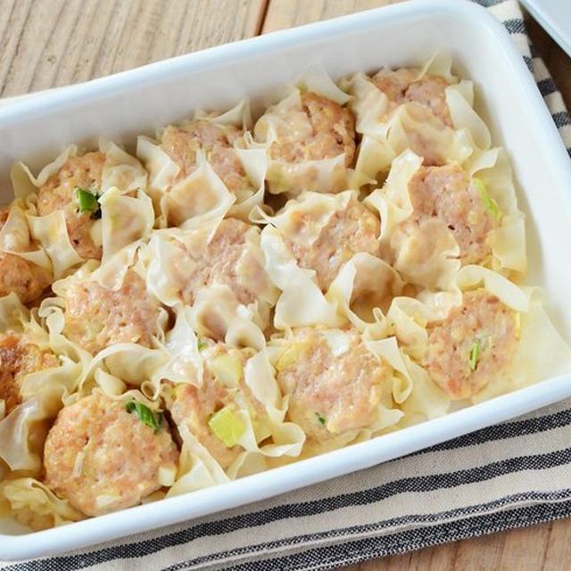 レンジで簡単。お弁当にも入れやすいレンチン鶏シュウマイ