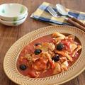 鶏むね肉とまいたけのトマトオリーブ煮 by kaana57さん