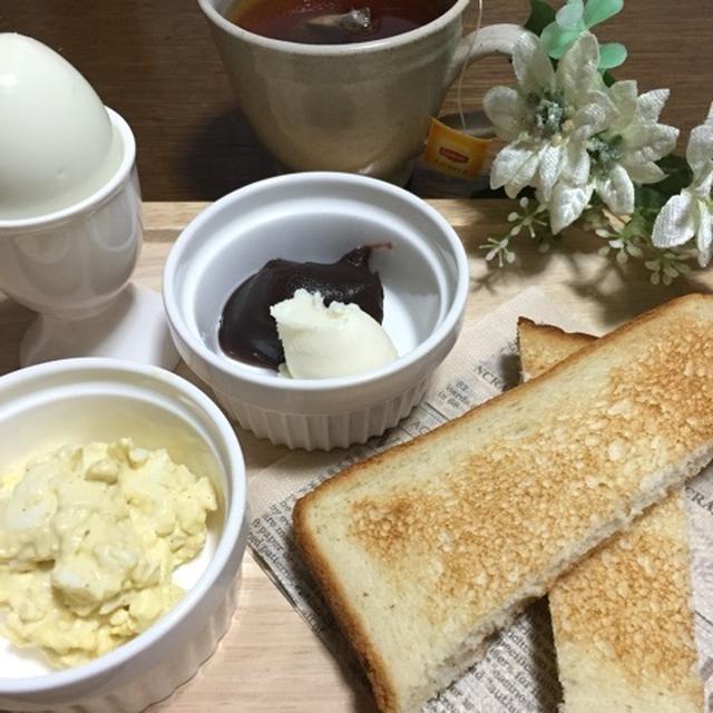 珈琲店のモーニング風♡朝食プレートwith手づくりカップ