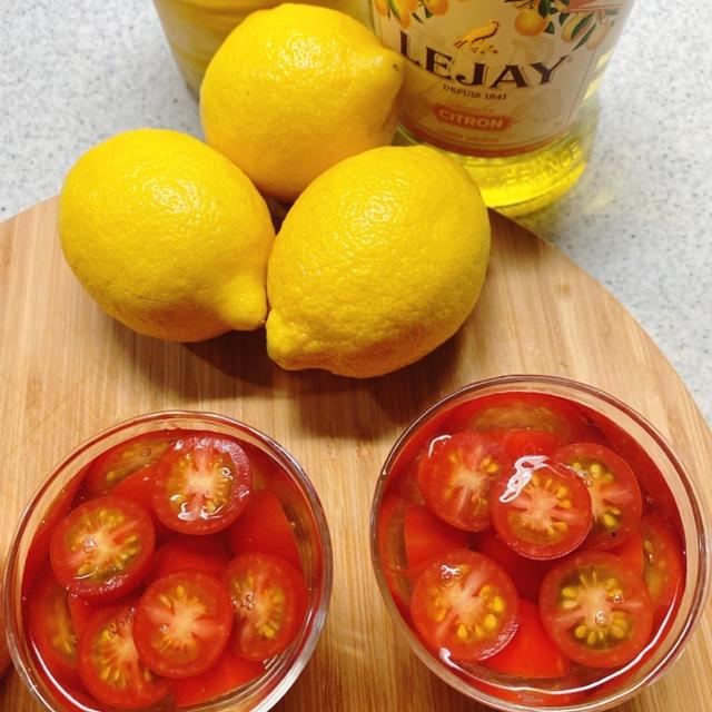 あまーい♡ミニトマトのレモン香るトマトゼリー