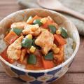 鶏胸肉のケチャップ炒め丼レシピ♪チキンライスの具材で簡単!子どもご飯・弁当にも