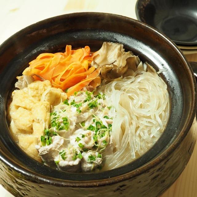 栄養満点☆豚肉とブロッコリースーパースプラウトの巻きまき鍋
