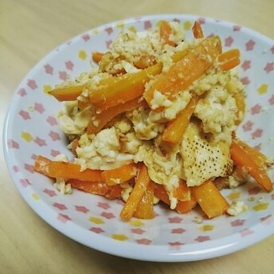 簡単☆にんじんとお豆腐のチャンプルー