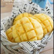 簡単【混ぜて焼くだけ♩】まさかのパン粉でメロンパン風♡