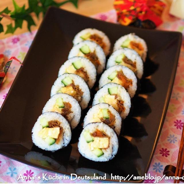 【副菜】お知らせ!節分の恵方巻にも使えるかんぴょう煮のレシピ。海外で作る巻きずし♡