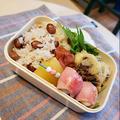 生落花生とmixキヌアの炊き込み混ぜご飯弁当