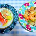 『海老とエリンギの炒め物』