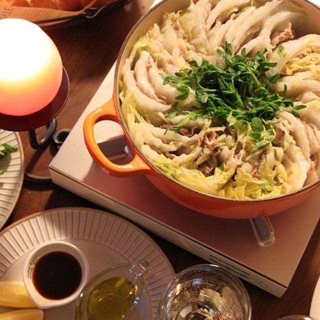白菜と豚のミルフィーユ鍋 塩のシンプル調理