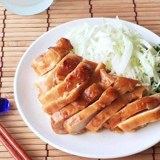 【時短レシピ】鶏肉のヘルシー味噌照り焼き。レンジでラクチン