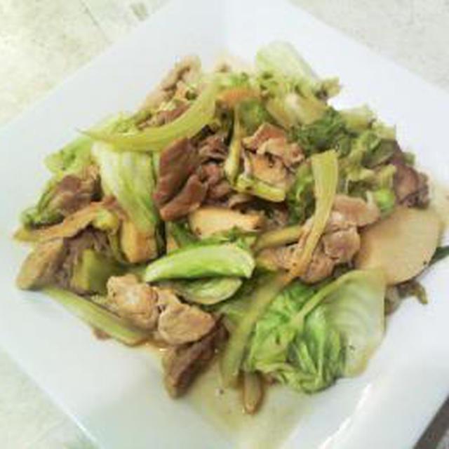 豚肉と筍&キャベツのポン酢炒め☆簡単レシピ