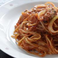 買い置き食材で!鯖トマトチーズパスタのレシピ【ボーソー米油部】