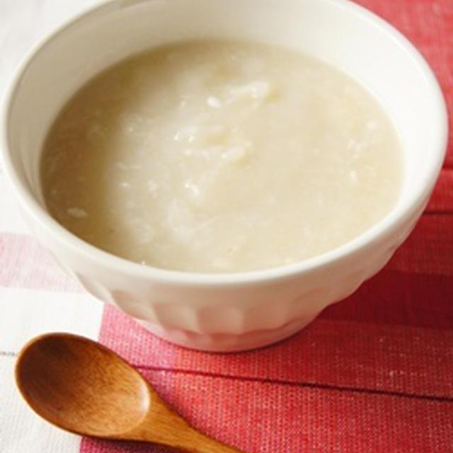 塩麹で赤と白のスープ