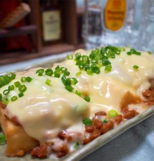 【レシピ】厚揚げ豆腐の納豆味噌チーズ